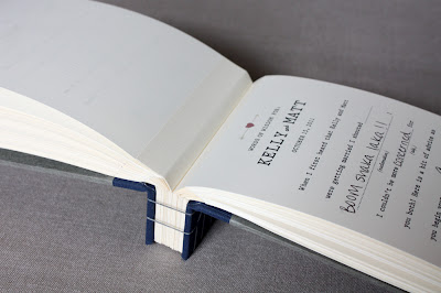 wedding book Japanese binding by book artist Katie Gonzalez