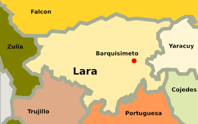 Mapa de Lara Venezuela