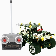 DIY Educational Toys, Puzzle Metal Off-road vehicles with Remote Control, 249pcs