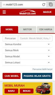 gambar web di Mobil123.com