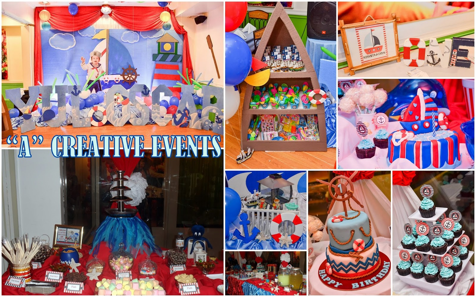 Nautical Themed Party for Yul Oscar Athena Miel's Balloons, Bubbles and Party Needs Athena Miel ...