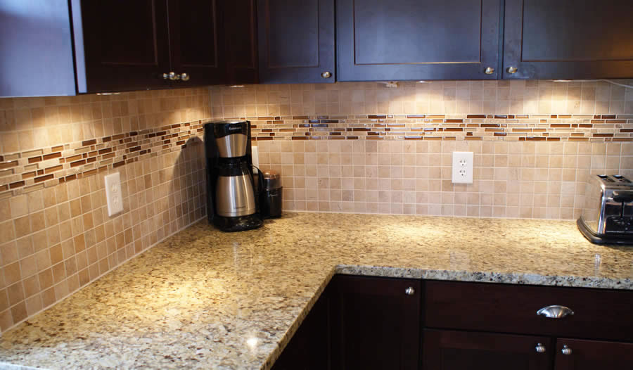 The organized habitat the backsplash Ceramic tile kitchen backsplash