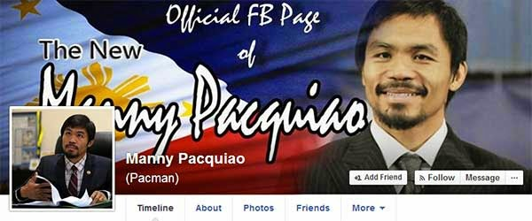 Manny Pacquiao Facebook page