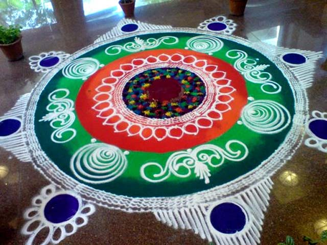 New latest Sankranti Muggulu Designs With Chukkalu for Sankranthi 2016 ...