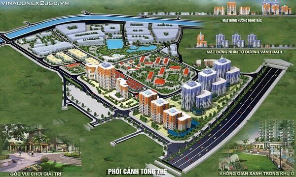 Phối cảnh tổng thể Khu đô thị Kim Văn Kim Lũ