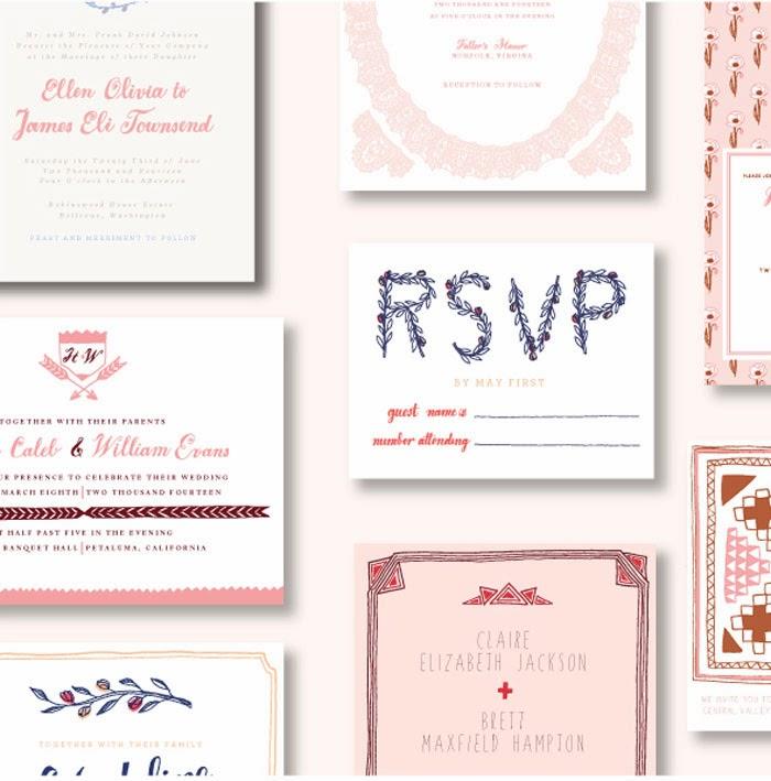 Sycamore Street Press Brand New Wedding Invitation Collection