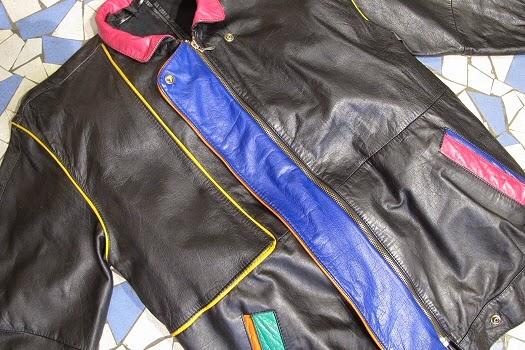 cuir recyclé Sac Matières à réflexion - de la veste au sac vintage