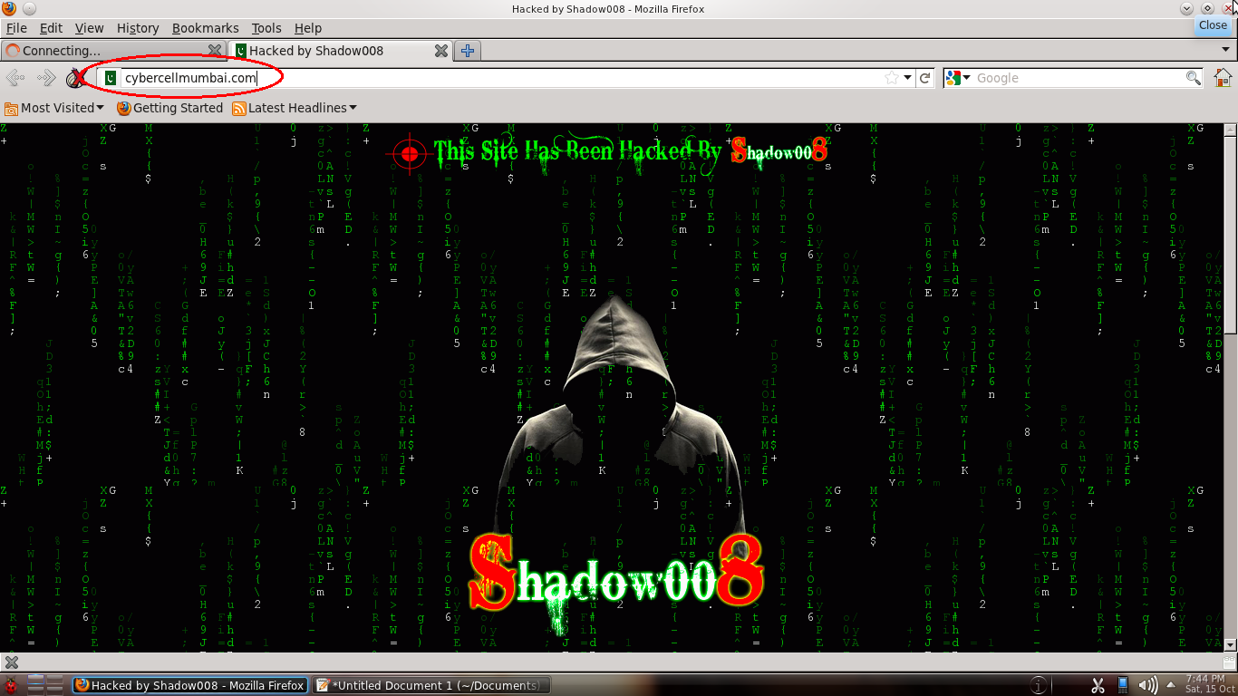 Cyber Crime Investigation Cell Mumbai Hacked By Shadow008 ...
