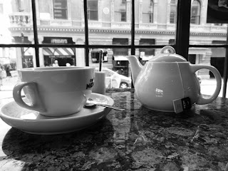 Image of a hot pot of Earl Grey tea at Cafe Nero, Covent Garden
