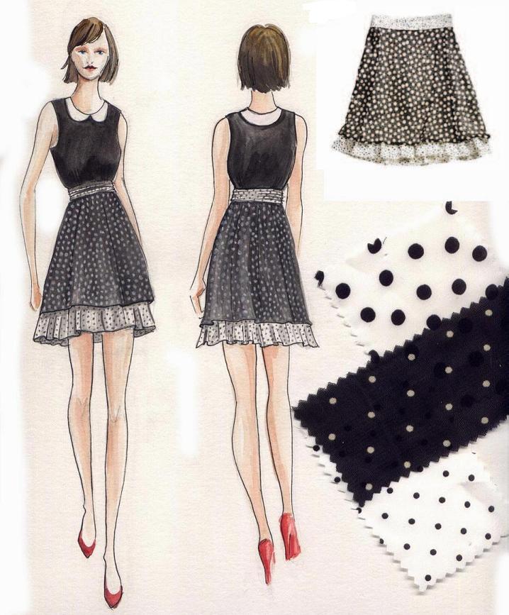 Fashion Sketch Skirt Design