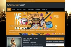 MusicNight Wordpress Themes