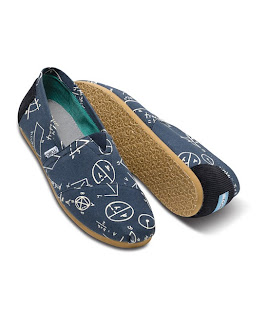 Mens Geometric Navy Toms Shoes
