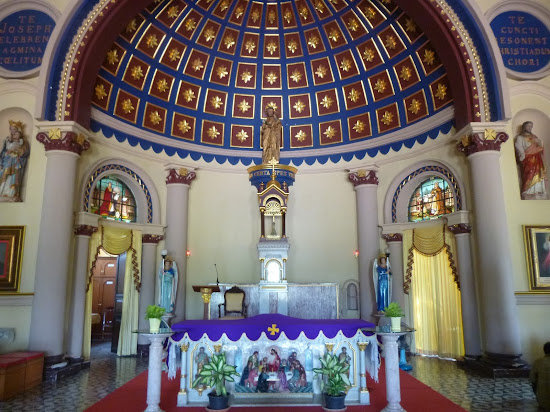 The altar of St. Joseph Church in Ayutthaya Historical Park