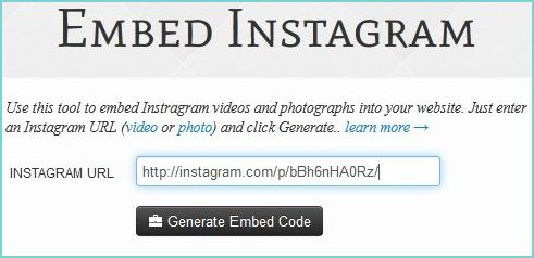 Simple Way to Add Instagram Videos on your Blog / Website