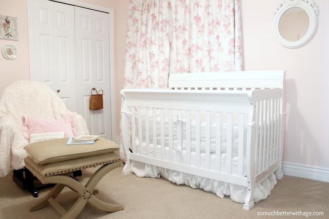 baby girl nursery www.somuchbetterwithage.com