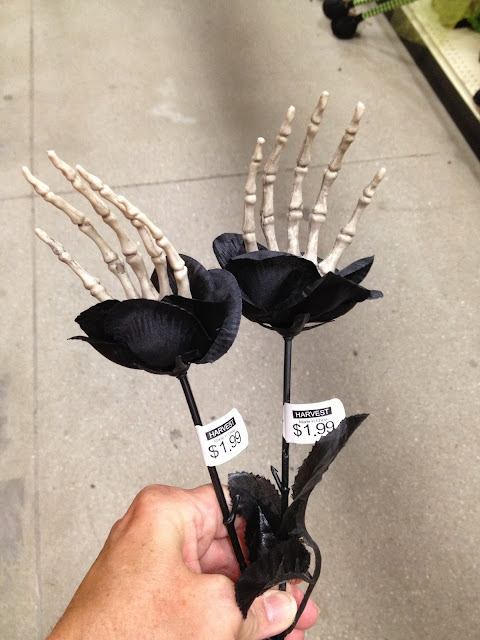 Halloween Decorations, skeleton, creepy hands, spooky flowers