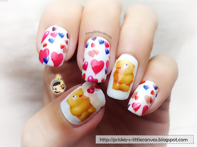 Forever Friends Bear Nails by @mylittlecanvas