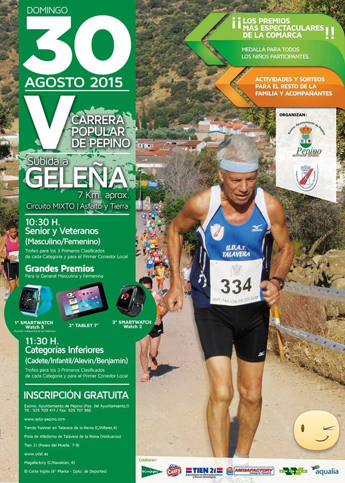 "V Carrera Popular ""Subida a Geleña"" de Pepino"