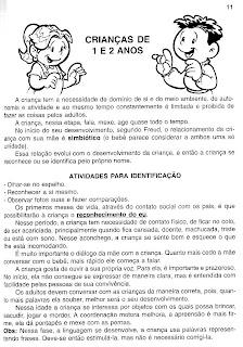 ATIVIDADE DE IDENTIFICAÇÃO PARA BERÇÁRIO 2 E MATERNAL 1