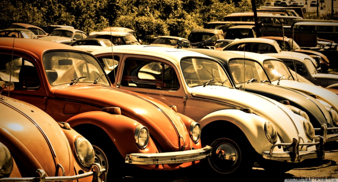 Old Volkswagen Beetle Junkyard HD desktop wallpaper  High