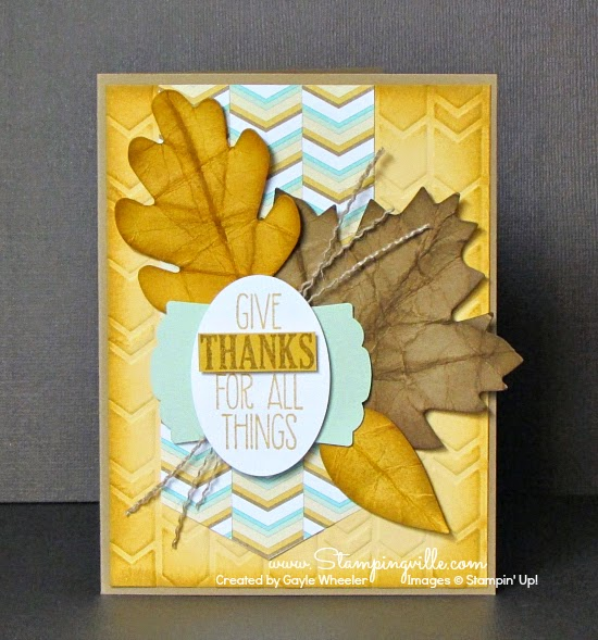 Crisp fall card of gratitude | Stampingville #Thanksgiving #papercrafts #cardmaking #StampinUp