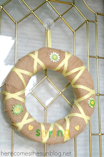Here Comes the Sun: Spring Burlap Wreath Tutorial