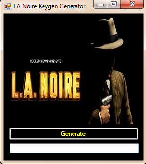 LA Noire Keygen Generator Updated version | CRACK SERIAL ...