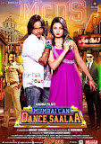 Ashima Sharma and Prashant Narayanan flaunting guns in Mumbai Can Dance Saala movie poster