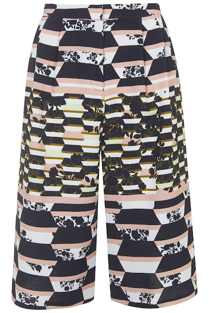 printed culottes, patterned culottes topshop,