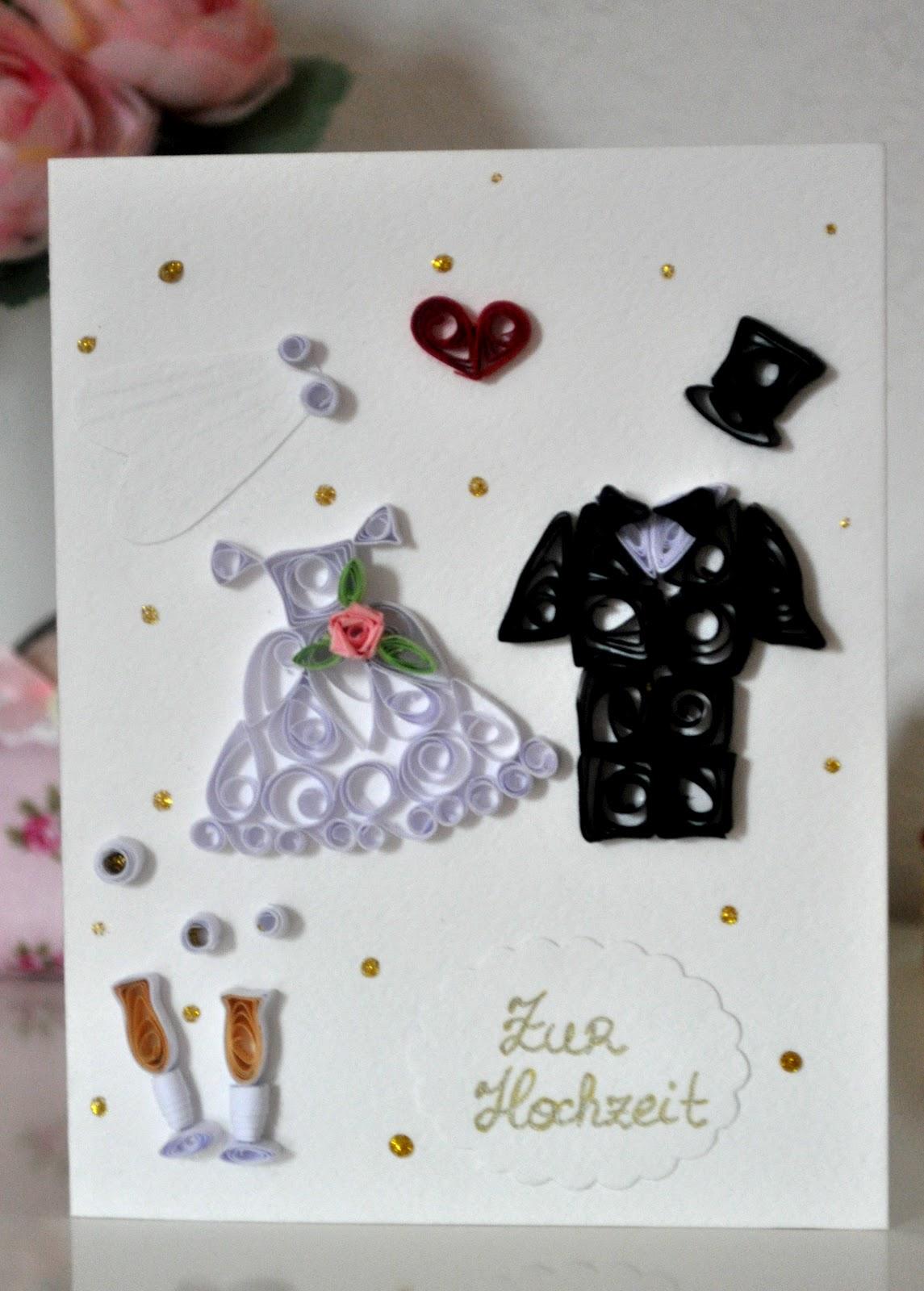 Квиллинг открытки к свадьбе 48