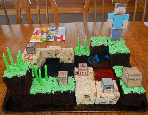 Adventures in Mommyhood MCs Birthday and The Minecraft Cake