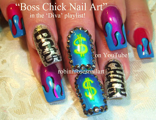 Robin moses nail art queen bee nail art diva nails diva nail diva nails long nail playlist diy designer nails dripping in diamonds bling ideas for beginners advanced nail techs prinsesfo Choice Image