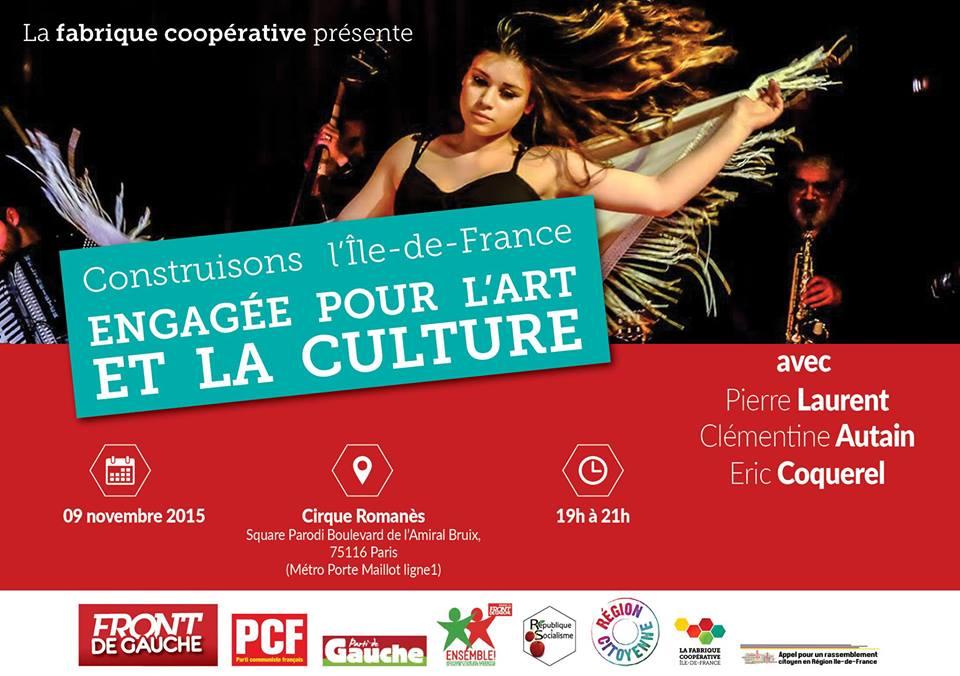 Le 9 novembre, au cirque Romanès pour un  débat sur l'art et la culture