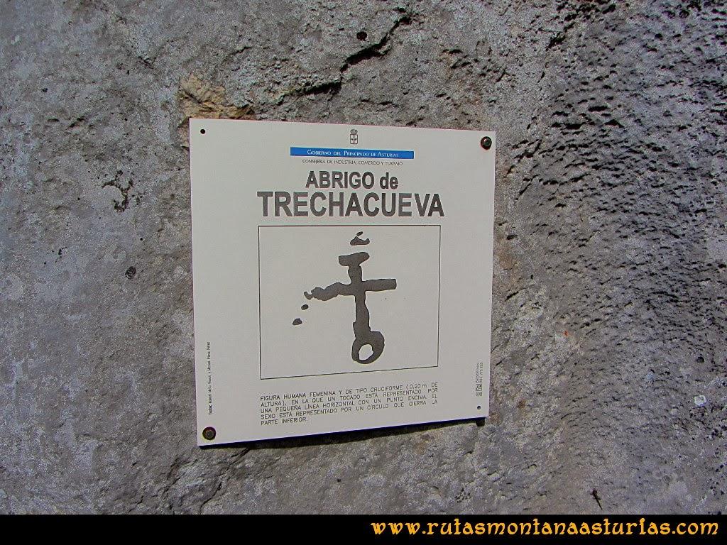 Rutas Montaña Asturias de las Pinturas Rupestres de Fresnedo: Abrigo Trechacueva