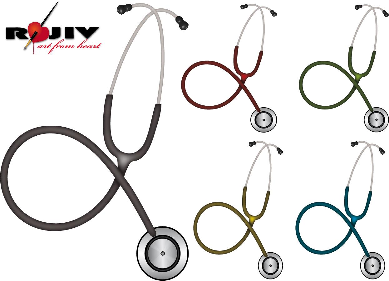 聴診器 医療機器 stethoscope medical instruments イラスト素材