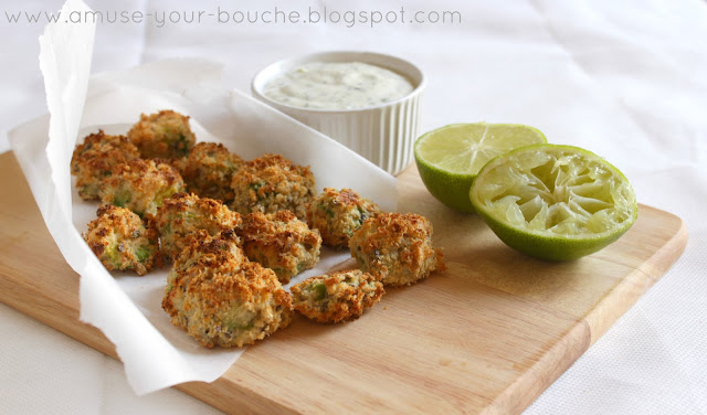 Avocado poppers with coriander-lime mayonnaise