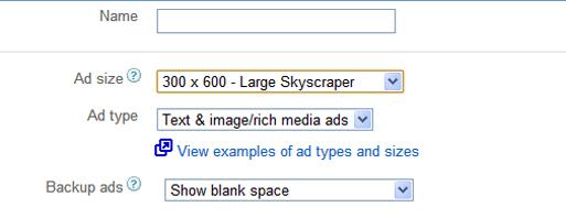 Ad Unit creating adsense