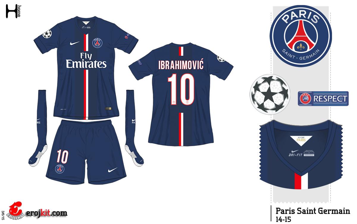 Kit Design By Eroj 2014 15 Paris Saint Germain Home