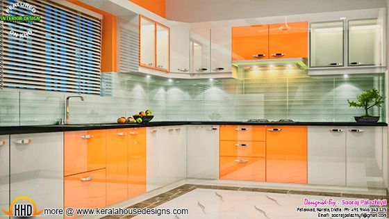 Kitchen - Kerala apartment interior