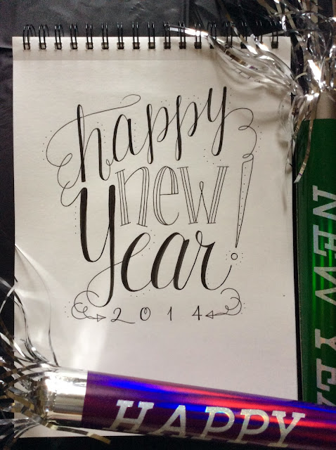 Happy New Year from Lettering Lately blog