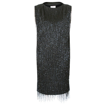 maison martin margiela beaded leather fringe dress
