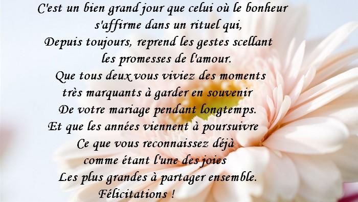 Texte pour voeux mariage - Carte de mariage originale ...