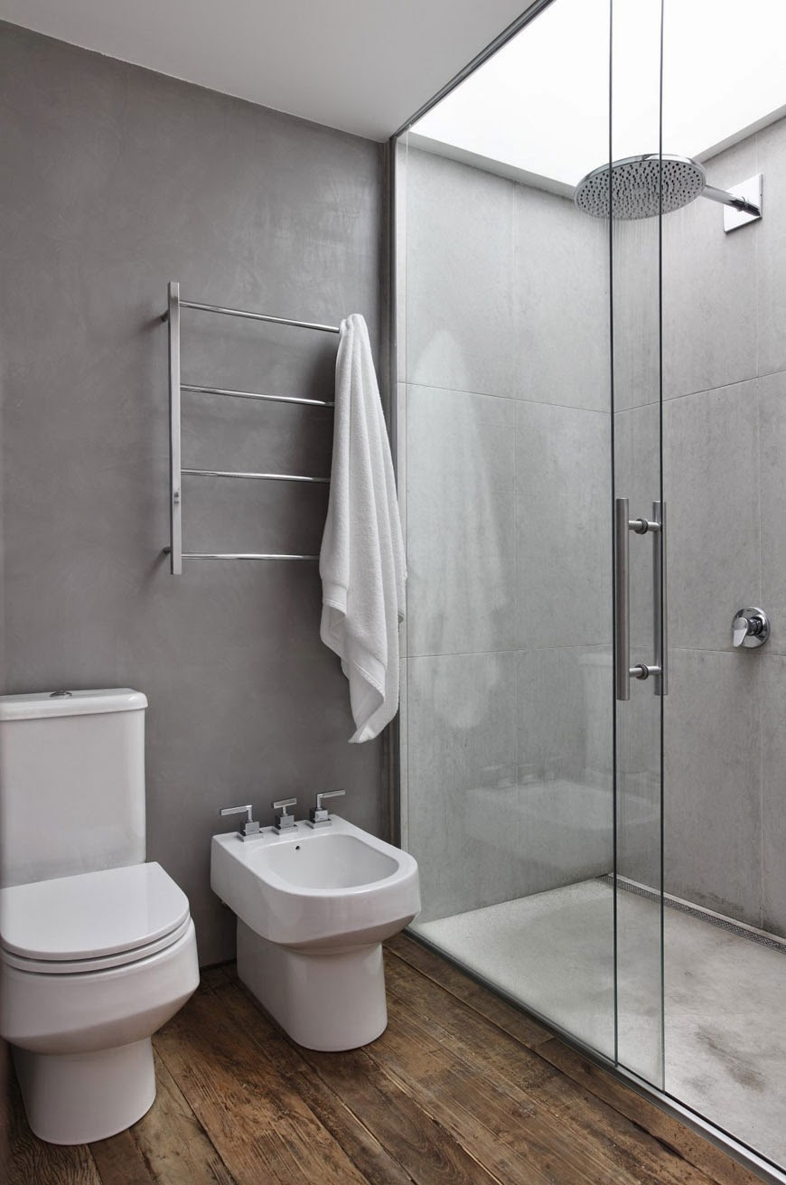 Decoração de banheiro moderno e contemporâneo