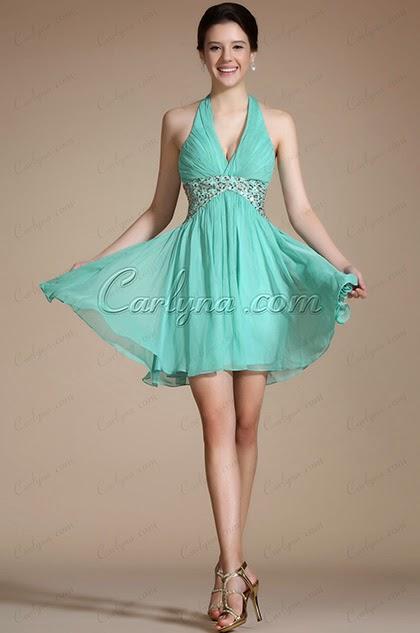 Фото коктейльного платья бирюзового