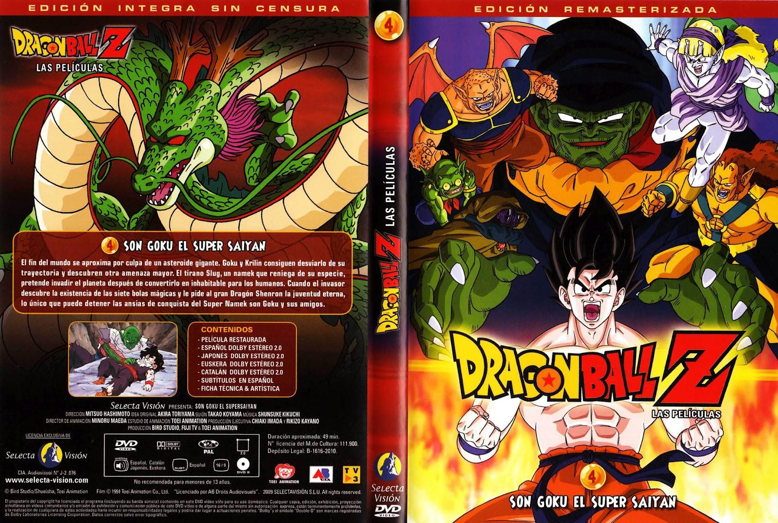 Dragon_Ball_Z_4_Son_Goku_El_Super_Saiyan-Caratula - [DD] Dragon Ball Z Película 4 Goku Es Un Super Saiyajin - Anime Ligero [Descargas]