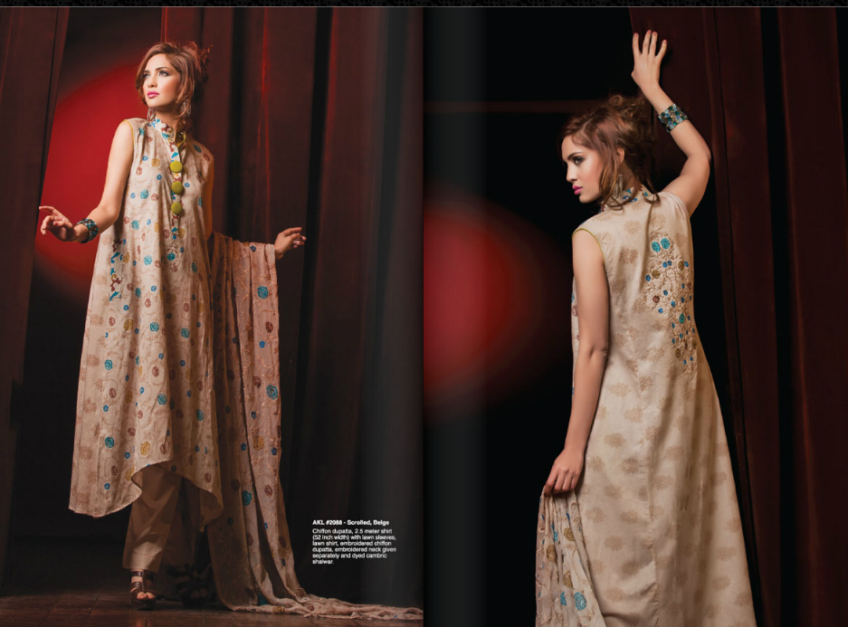 Al KaramLawnCollection2013 2014252872529 - Al-Karam Lawn Spring Collection 2013