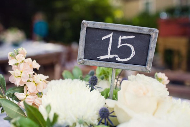 Chalkboard is getting bog on the wedding world table numbers are no