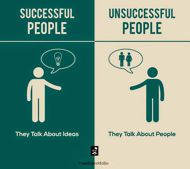 Successful People, Unsuccessful People, life lessons, talk about ideas, talk about people