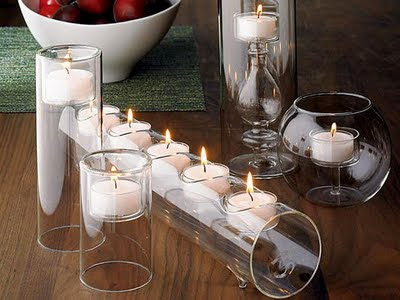 Candle Centerpieces interior design home decorating ideas