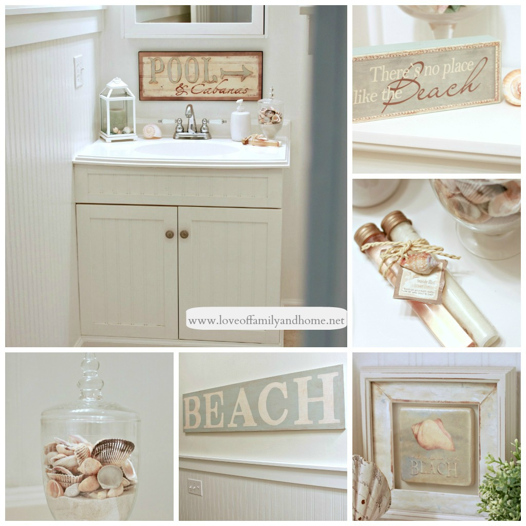 Very pretty beach bathroom decor craft your for Beach bathroom decor